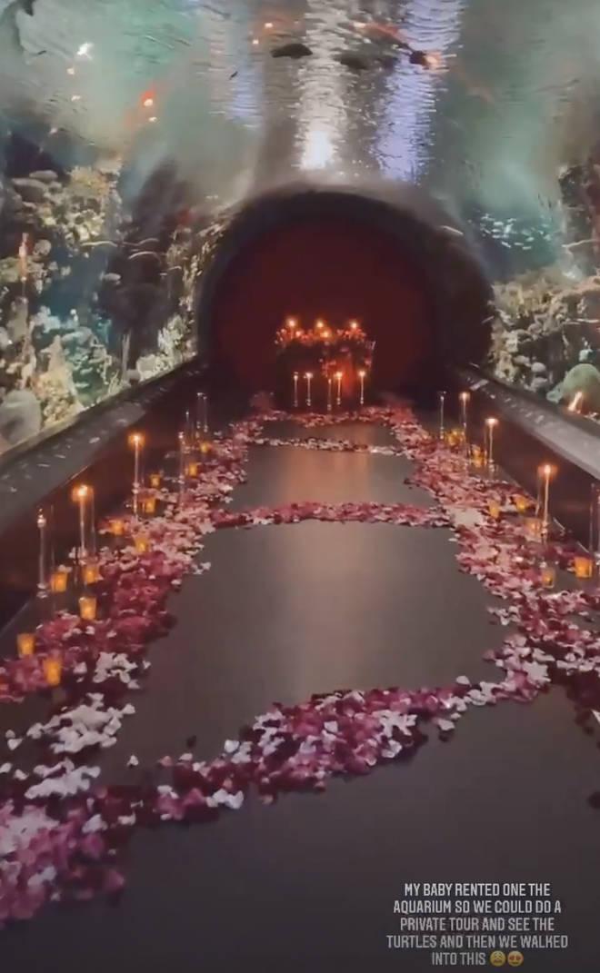Lori Harvey shares snaps of the aquarium Michael B. Jordan rented for Valentine's Day
