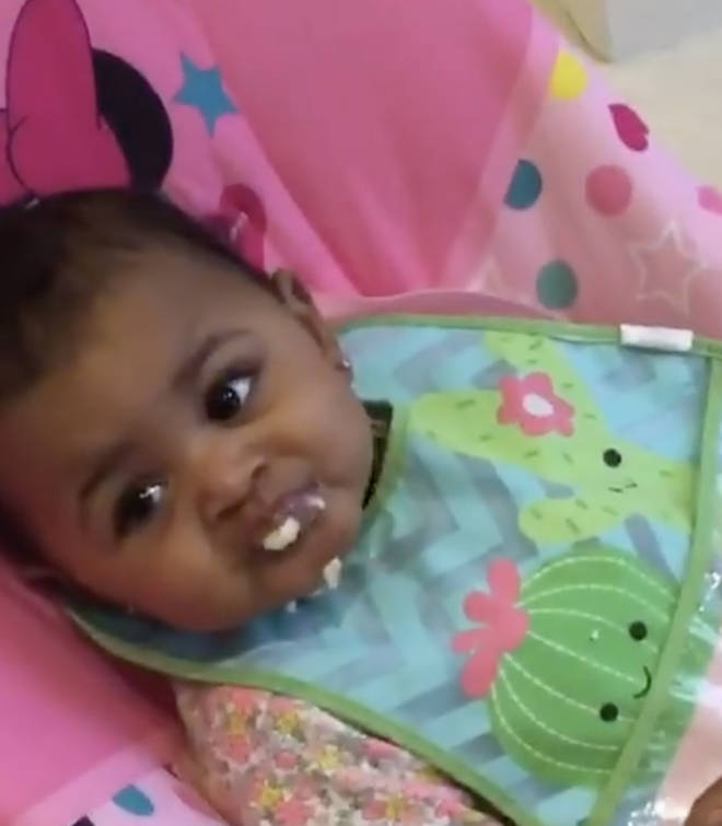 Cardi B shares sweet video of Kulture eating her baby food