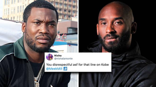 "Meek Mill responds to backlash over ""disrespectful"" Kobe Bryant lyric"