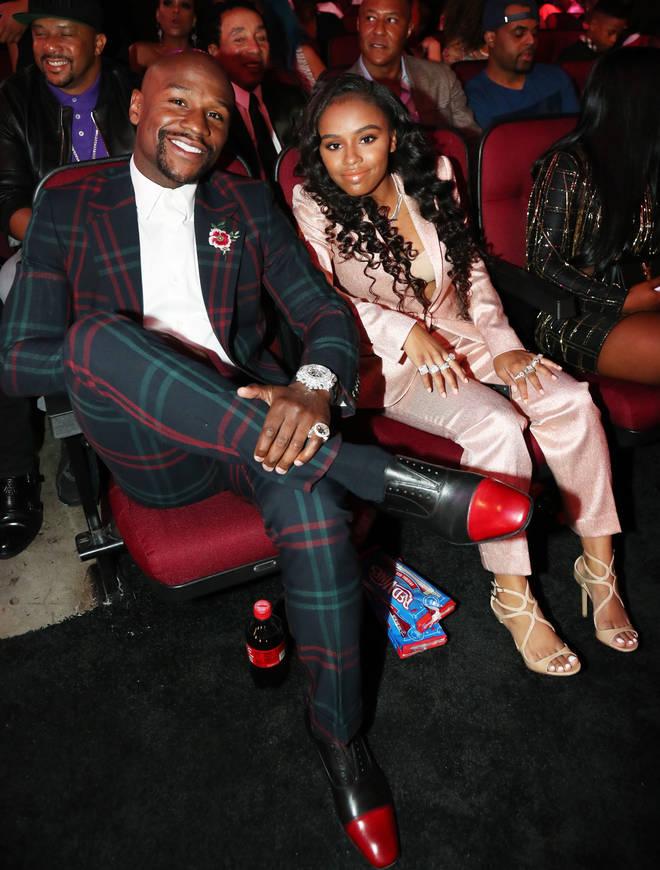 "Floyd Mayweather and his daughter Iyanna ""Yaya"" Mayweather"