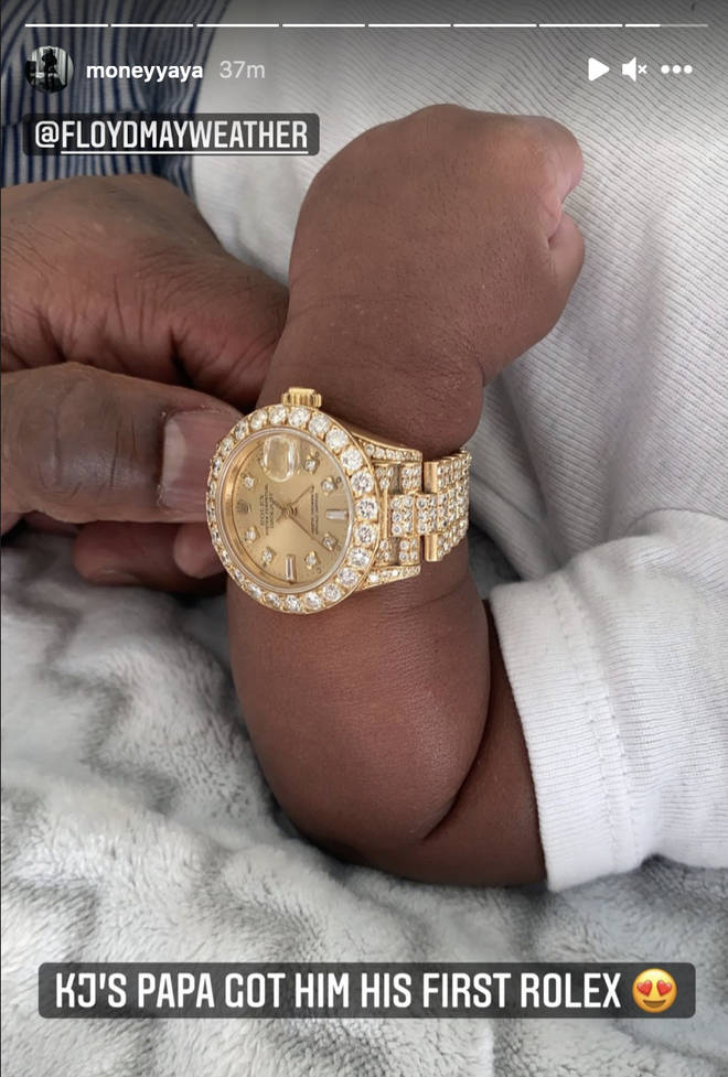 Floyd Mayweather gifts his grandson his first Rolex