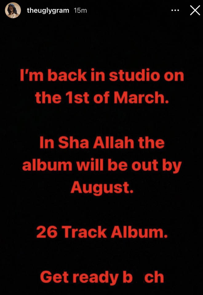 J Hus announces he will be releasing an album this year