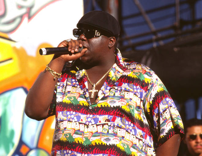 Notorious B.I.G. pictured in 1995