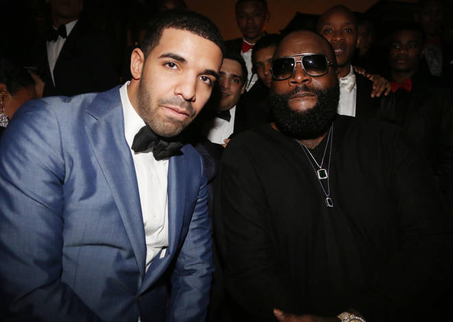 Drake and Rick Ross linked up on 'Lemon Pepper Freestyle'. (Pictured here in 2013.)
