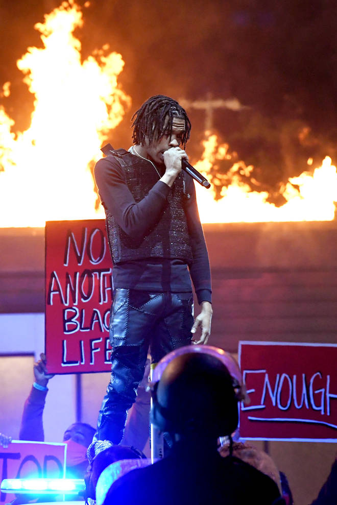 Lil Baby delivers powerful Black Lives Matter performance to his song 'The Bigger Picture'