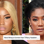 Nicki Minaj fans slam Tiffany Haddish over shady comments in leaked Clubhouse chat.