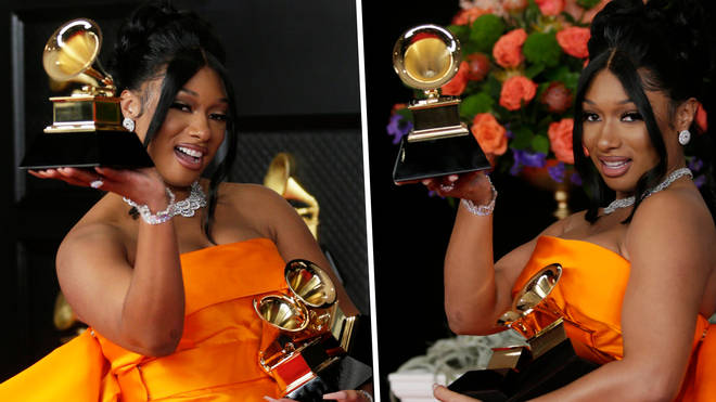 """Megan Thee Stallion responds to question about the Grammys being """"rigged"""""""