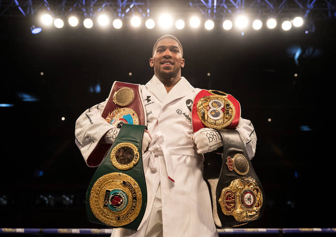 Anthony Joshua was ranked as the world's second best active heavyweight by The Ring in April 2020.
