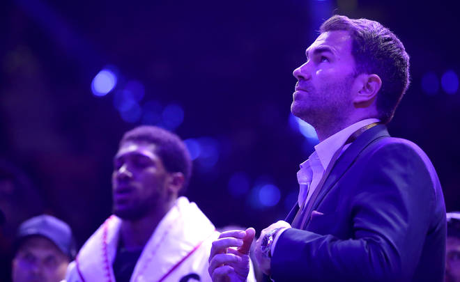 """Anthony Joshua&squot;s promoter Eddie Hearn brands this fight as his """"biggest fight"""" yet."""