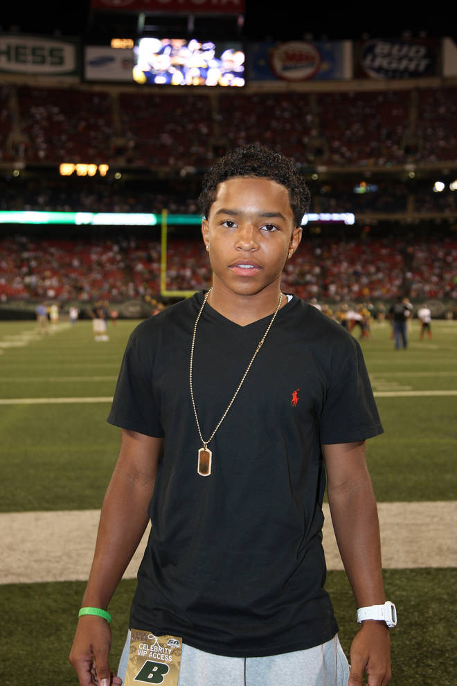 Justin Combs became interested in American football at a young age.