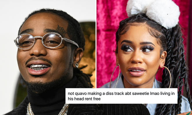 Quavo accused of throwing shade at ex-girlfriend Saweetie in new song