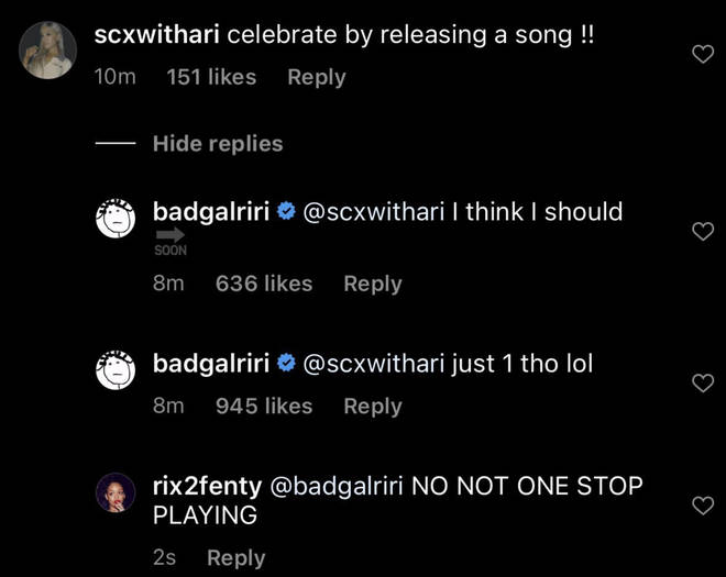 Rihanna confirms she will be releasing a new song