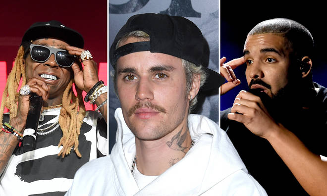 Justin Bieber reveals his top five favourite rappers.