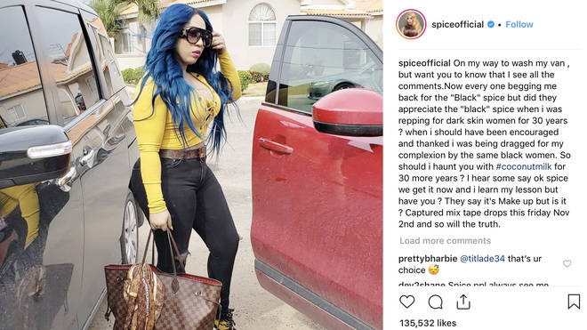 Spice has left fans guessing as to whether her skin tone has been altered permanently.