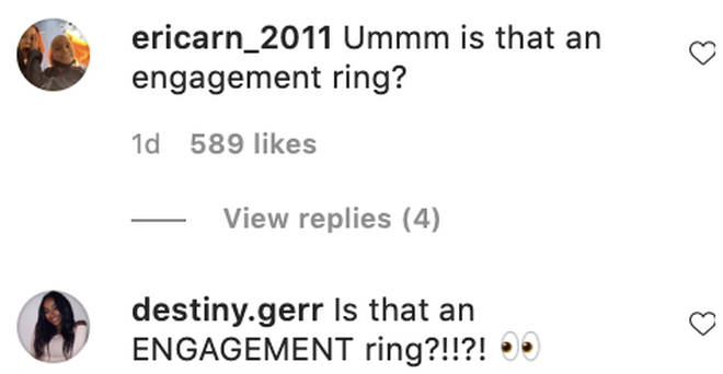 Fans ask Jordyn Woods if her ring is an engagement ring