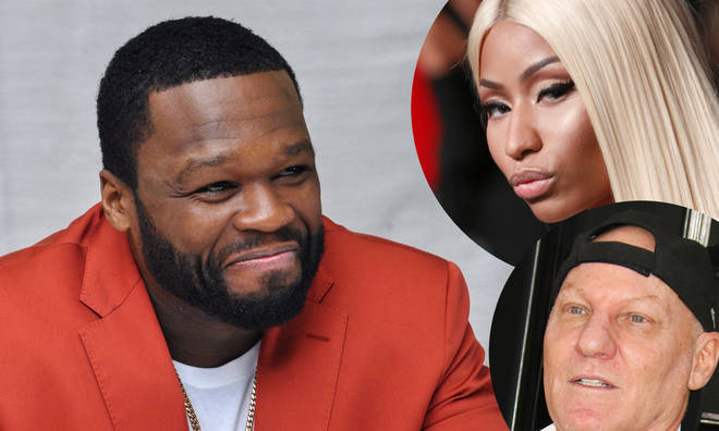 "50 Cent branded the shoe designer a ""liar"" following his feud with Minaj."