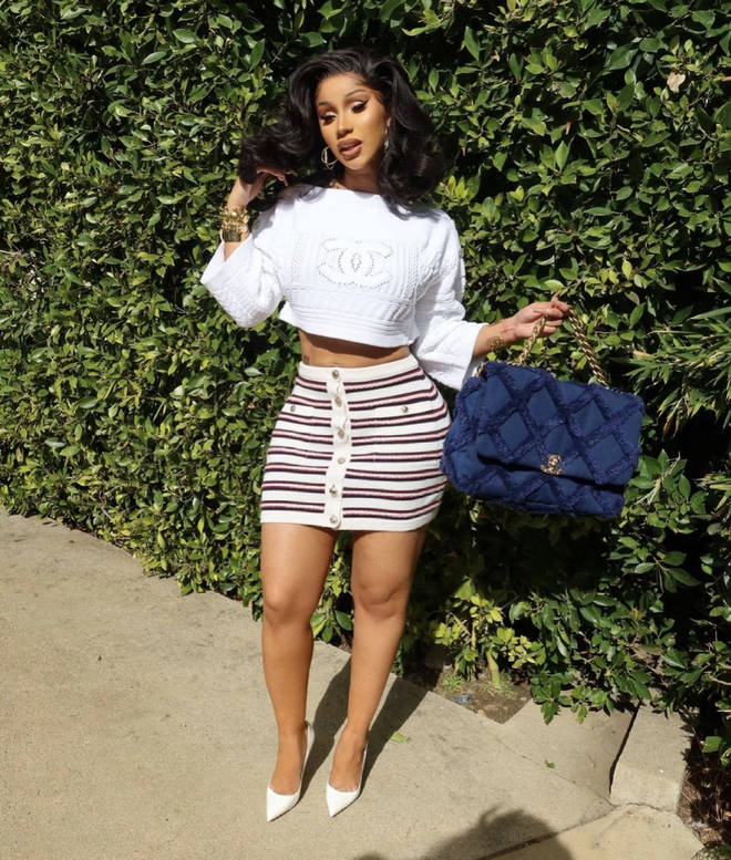 Cardi said she was inspired to create her own haircare products after she received negative comments on a video she posted of her natural hair.
