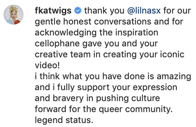 """FKA Twigs thanks Lil Nas X for his """"honesty"""" about the similarity between their music videos."""