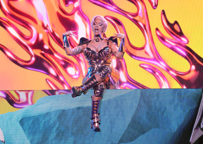 Cardi B performs no.1 hit song 'WAP' at the 63rd annual Grammy Awards