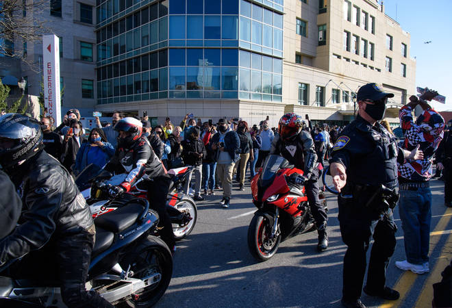 Biker fans showed their support for DMX at the vigil hosted by the Ruff Ryders.