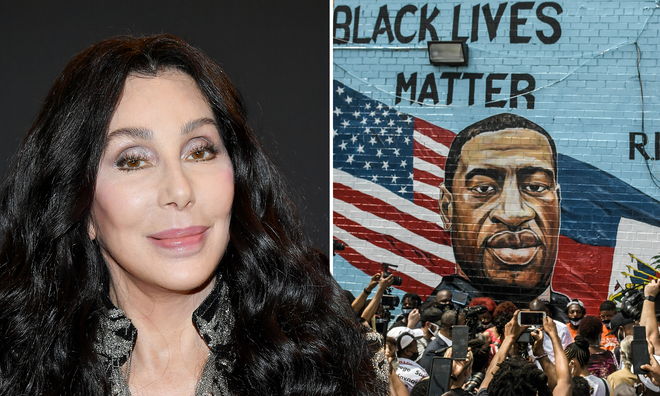 Cher addresses backlash over controversial George Floyd tweet.