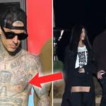 Travis Barker gets girlfriend Kourtney Kardashian's name tattooed on his chest.