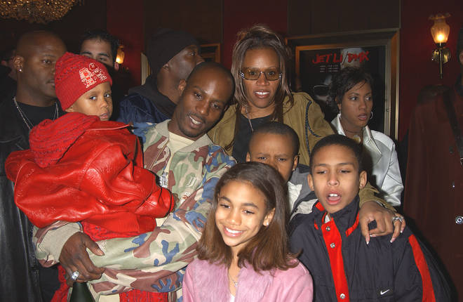 DMX pictured with some of his children during the world premiere of 'Cradle 2 The Grave' at Ziegfeld Theater in New York.