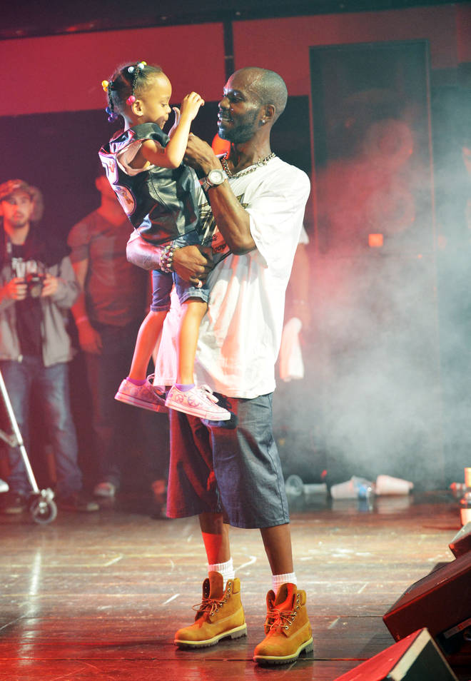 DMX on stage with daughter Aaliyah during his performance at Revolution on July 6, 2012 in Florida.