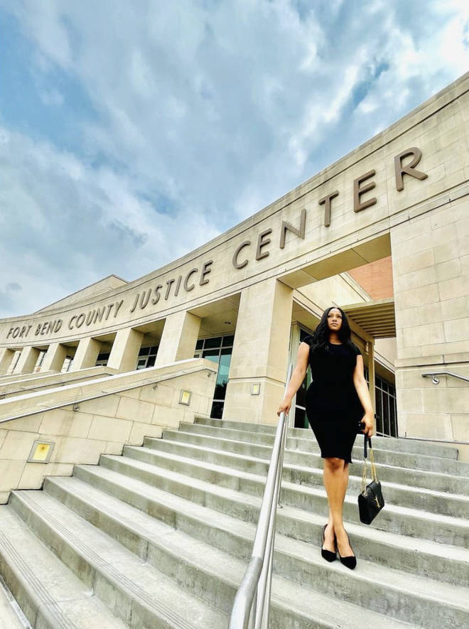 Earlier this week, Parker shared a photo of herself outside Fort Bend County Justice Center.