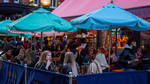 People enjoying drinks in Carnaby Street area