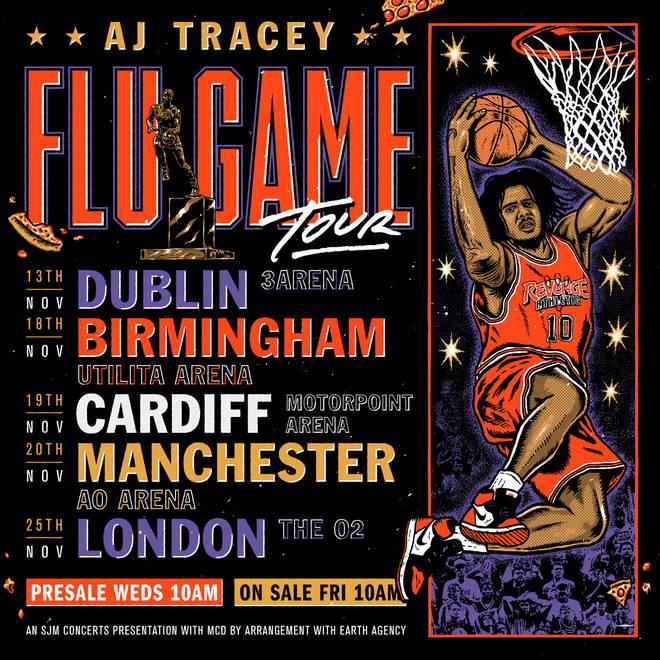 AJ Tracey announces his 'Flu Game' tour dates