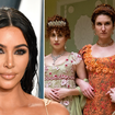 Kim Kardashian reacts as her surprising connection to Bridgerton is revealed