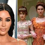 Kim Kardashian reacts as her surprising connection to Bridgerton is revealed