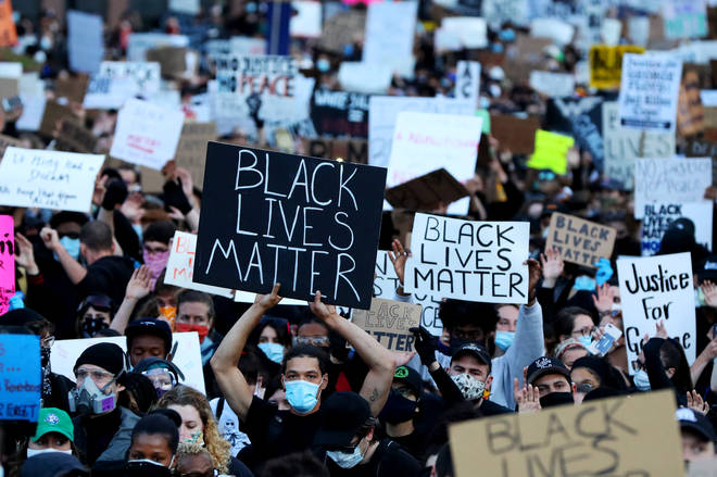 Protesters take part in Black Lives Matter marches around the world following George Floyd's death.