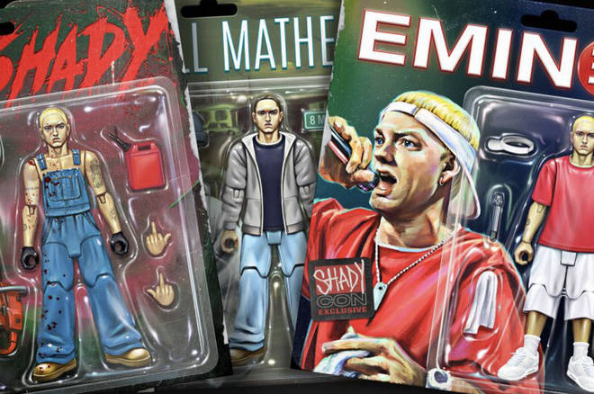 Eminem will be offering NFTs with figurines depicting three of his multi-personalities.