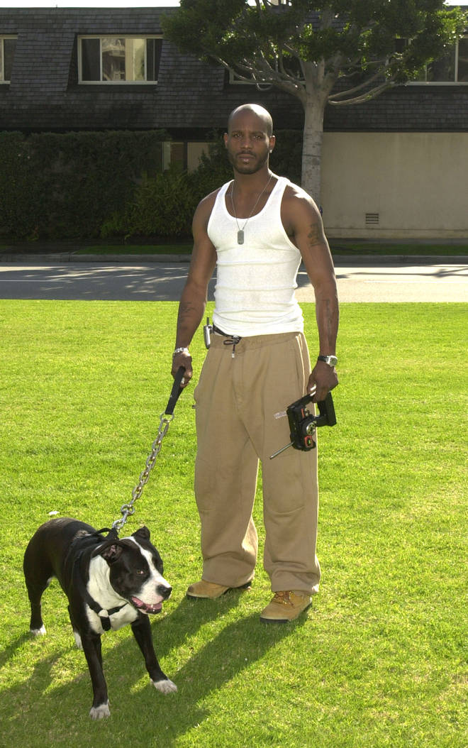 DMX evidently loved dogs and even got one of his pet dogs names' tattooed on his neck.