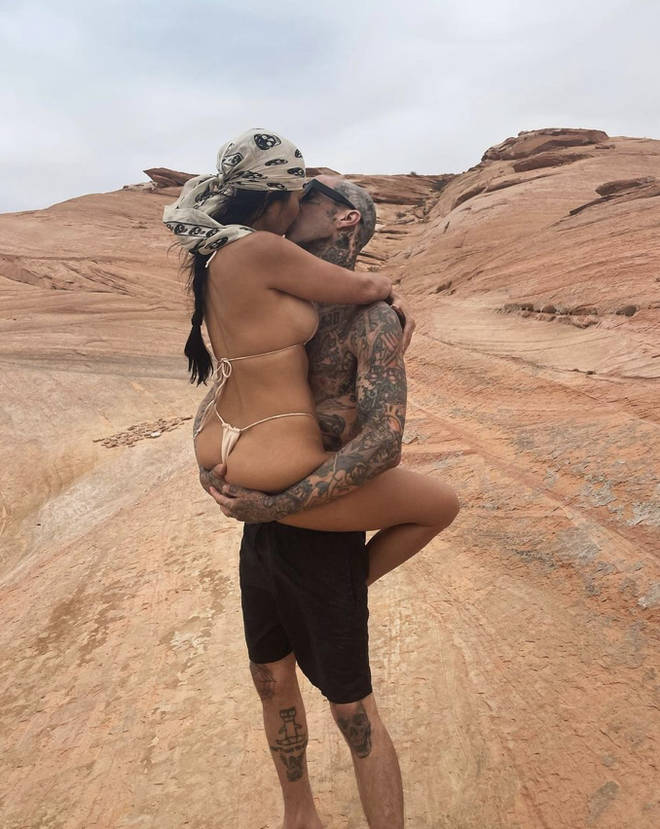 Kourtney Kardashian and Travis Barker often share sweet images with each other.