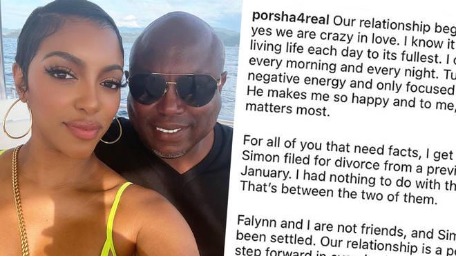Porsha Williams confirms engagement to co-star Falynn's ex-husband Simon Guobadia