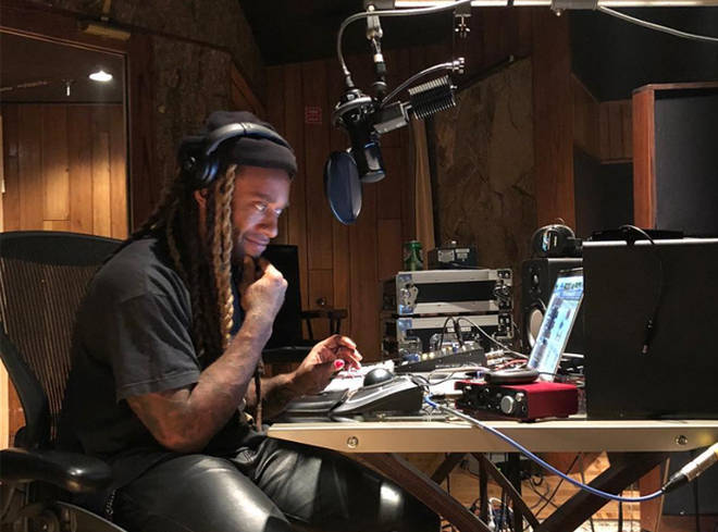 Ty Dolla Sign Listening To Music On Headphones