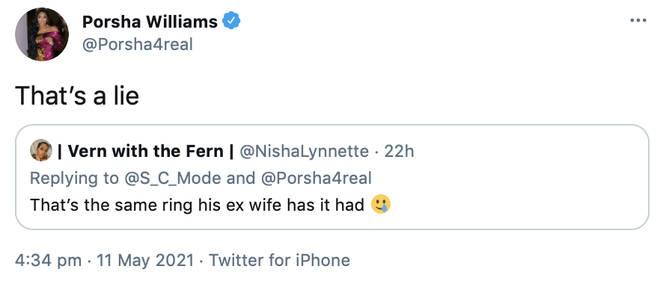 Porsha Williams shuts down claims Simon gave her the same ring as Falynn.