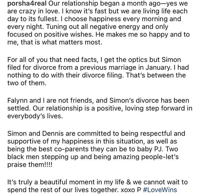 Porsha Williams speaks out on her relationship with Simon Guobadia.