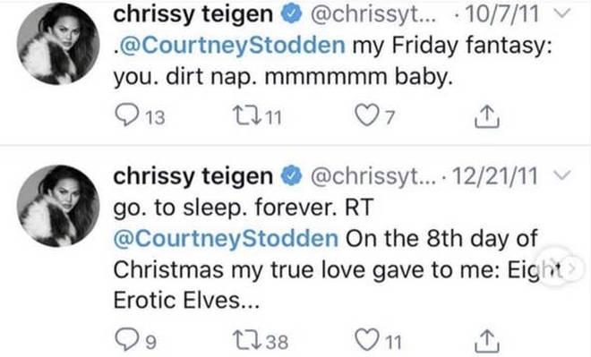 Chrissy Teigen's old tweets have been resurfaced on the social media platform.