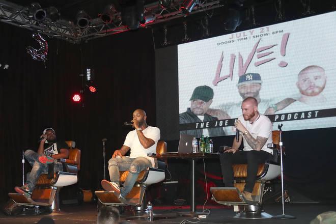 Rory (R) and Mal (L) co-host alongside Joe Budden for his 'The Joe Budden podcast'.