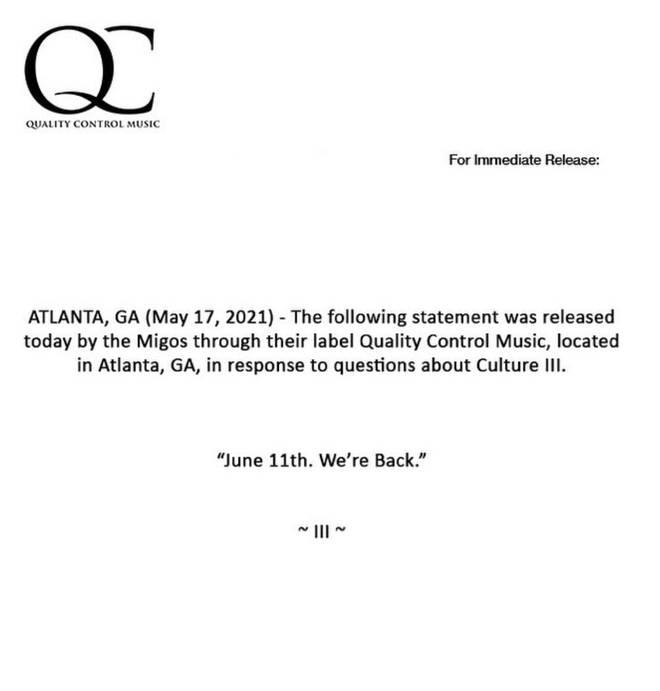 """June 11th. We&squot;re Back""."