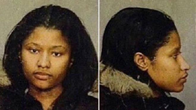 Nicki Minaj shared photos of her mugshots