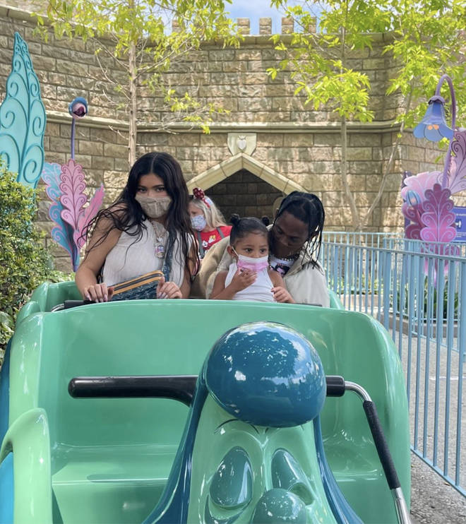 The former couple were spotted taking their daughter Stormi to Disneyland.