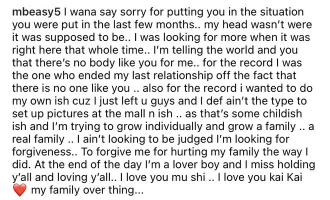 Beasley issued an apology to his former partner Montana.