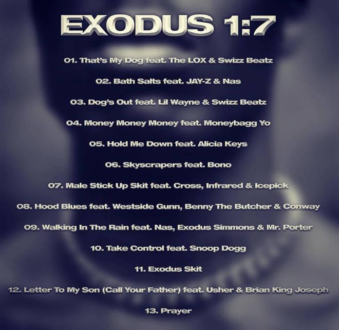 DMX's 'Exodus' album tracklist