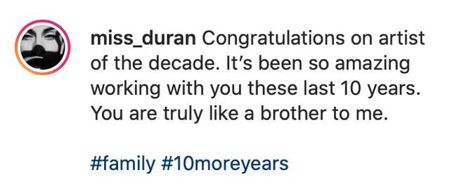 Drakes stylists instagram caption