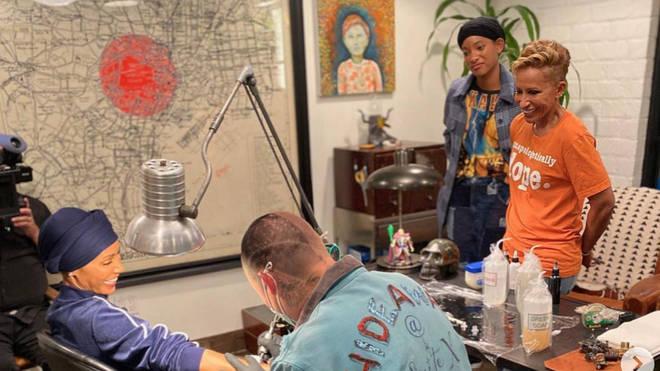 Jada Pinkett Smith gets tattoo